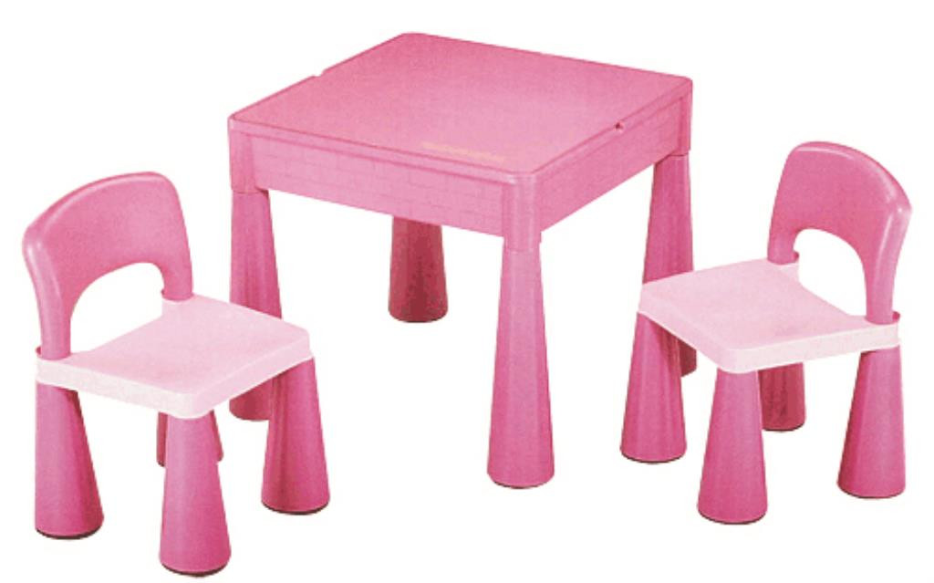 Super Kids Pink Table And Chairs With Block Top Mr Toys Toyworld