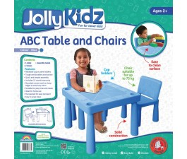 Jolly Kidz Plastic Table and Chairs - Blue