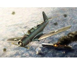 "Academy 12324 1/48 Sb2U-3 ""Battle Of Midway"" Plastic Model"