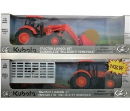 Kubota Tractor Play Set - Asst With Trailer