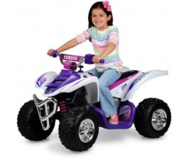 Yamaha Raptor ATV Ride On White-Pink 12 Volt