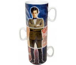 Dr Who - 10th & 11th Doctor Stacked Mug Set