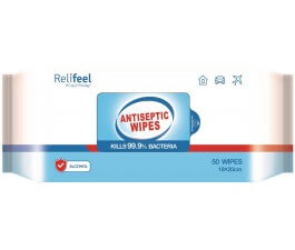 Relifeel Antibacterial 10Pk 18Cm X 20Cm Wipes Travel Pack