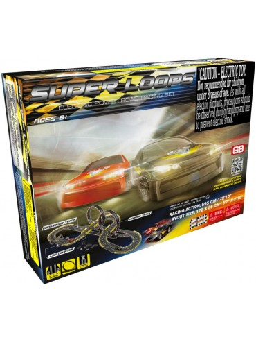 GB SUPER LOOPS ROAD SLOT RACING SET With Power Pack
